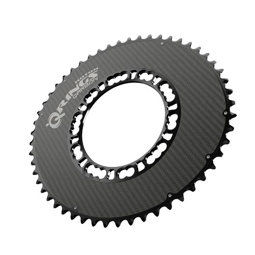 Rotor Q-Ring Road Aero Carbon Chainring 110